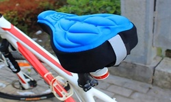 3D Silicone Gel Comfort Bicycle-Seat Saddle Cushion Cover- Black