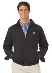 Chaps Men's Twill Full Zip Barracuda Jacket - Black - Size: Large
