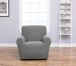 Cambria Collection Stylish Strapless Slipcover - Gray - Size: Chair