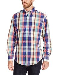 U.S. Polo Men's Classic Fit Long Sleeve Shirt - Checkered - Size: Medium