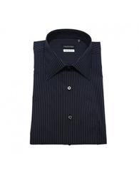 "Valentino Men's Slim Fit Cotton Dress Shirt - Blue - Size: 17.5"""