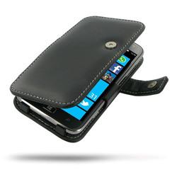 Leather Book Case for Samsung Ativ S GT-i8750 Black Crocodile Pattern