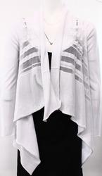 Stella Carakasi Women's Cardigan Sweater - White - Size: Small/Medium