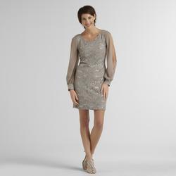 Scarlett Women's Lace Dress - Eggplant - Size: 14
