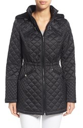 Laundry By Design Women's Hooded Quilted Coat - Black