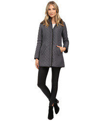 Weatherproof Women's Hooded Quilted Walker Coat - Graphite - Size: Small