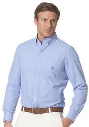 Chaps Striped Poplin Shirt Jewel Blue