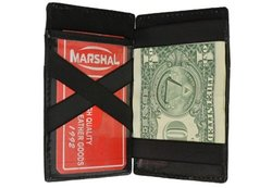 Marshal Women's Leather Magic Wallet - Black