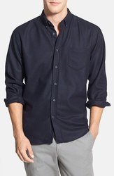 Slate Stone Men's Calvin Solid Button Down Shirt - Navy - Size: Medium