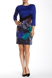 Amelia Women's Floral Colorblock Dress - Floral Ponte - Size: 6