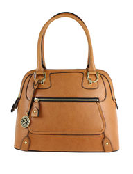 London Fog Women's Knightsbridge Cognac Satchel Handbag - Tan - Size: One