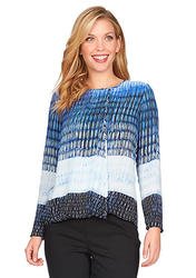 Chaus Women's Long Sleeve Icicle Rapids Wrap Blouse - Blue Dusk - Size: S