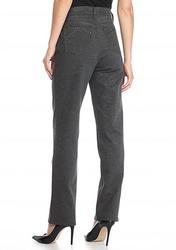 Gloria Vanderbilt Plus Amanda Ponte Pants - Grey - Size: 12