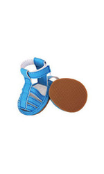 Pet Life PVC Waterproof Pet Sandal Shoes - Blue - Size: XS