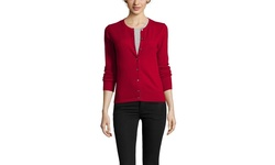 Gabriella Rossi Cashmere Women's Twinset Cardigan - Scarlet Rose - XLarge