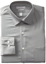 Van Heusen Men's Lux Sateen Dress Shirt - Grey - Size: 18 x 34/35