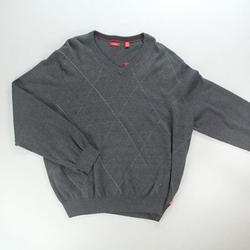 IZOD Men's Fine Gauge Raker V-Neck Sweater - Carbon Heather - Size: 2XL