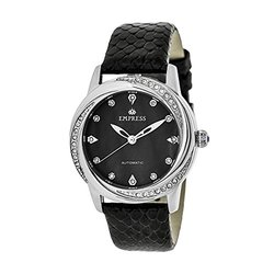 Empress Ayala Ladies Watch: EM1002 Black Band-Black Dial