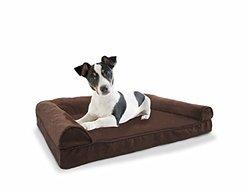 Plush & Suede Sofa Pet Bed: Small/ Espresso
