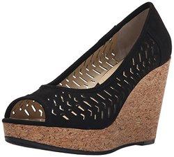 Adrienne Vittadini Women's Carilena Wedge Pump - Black - Size: 7.5
