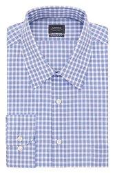 Arrow Men's Checkered Dress Shirt - Bluebird - Size: 15 x 34/35