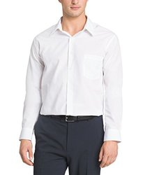 "Van Heusen Men's Poplin Regular Dress Shirt - White - Size: 17"" X 34""-35"""