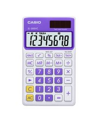 Casio SL-300VC-PL Solar Powered Purple Wallet Calculator w/8-Digit Display