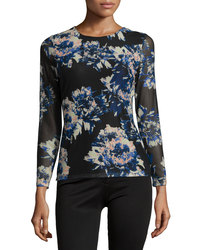 Catherine Catherine Women's Long Sleeve Printed Top - Blossom - Size: L