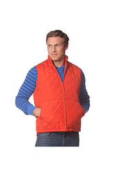 Chaps Men's Tason Quilted Poplin Vest - Orange - Size: XL
