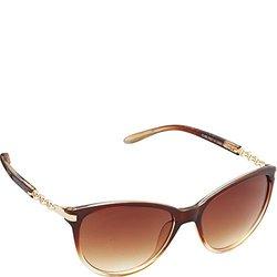 Union Bay Women's U280 BRF Cateye Sunglasses, Brown Fade, 57 mm