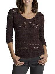 Unionbay Juniors Bloombury Scoop Sweater - Black Currant - Size: Medium
