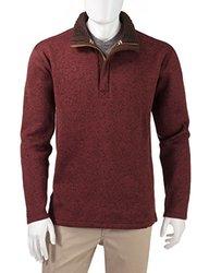 Weatherproof Vintage Men's Fleece 1/4 Zip Pullover - Size: Large - Rum Raisin