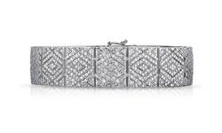 SFMNY Women's 2.00 CTTW Genuine Diamond Bracelet