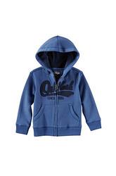 OshKosh B'Gosh Boys' Full Zip Logo Hoody - Blue - Size: 4-7