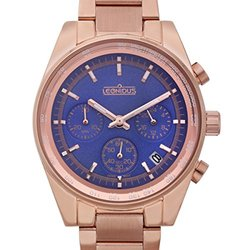 Ladies Watch: Leonidus Eutropia 62627051 Rose Band-Blue Dial