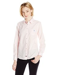 U.S. Polo Assn. Junior's Classic Oxford Shirt - Classic Pink - Size:Medium