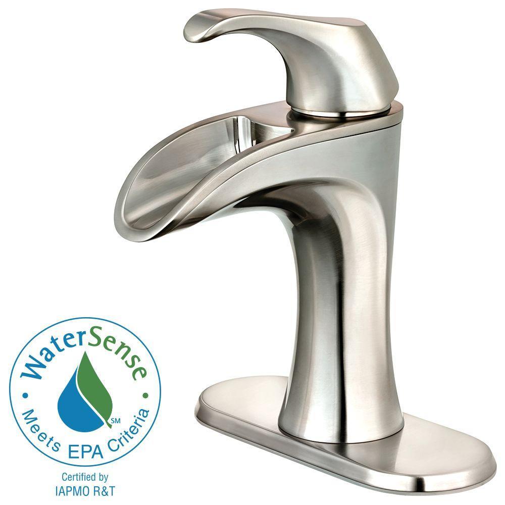 Pfister Brea 4 Centerset Single Handle Bathroom Faucet Brushed Nickel Check Back Soon Blinq