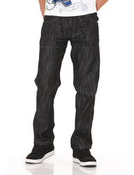 Southpole Young Men's Wash Straight Jeans - Rinse Black - Size: 40 X 34
