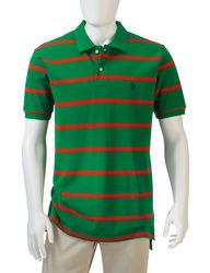 U.S. Polo Assn. Men's Multi-Striped Polo T-shirt - Dark Green - Size: XL