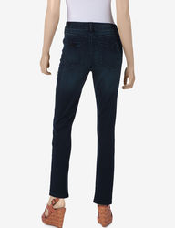 Signature Studio Women's Denim Stretch Jeggings - Dark Blue - Size: 10