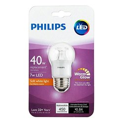 Philips 40 Watt Equivalent A15 Dimmable LED Light Bulb - Clear