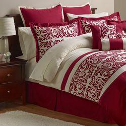 Alcove Ambrosia 30 Piece Comforter Set - Red - Size: Full