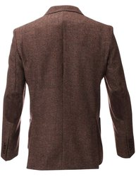Mayoral Men's Wool Blazer Jacket with Elbow Patches - Brown - Size: S