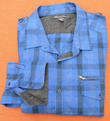 Kenneth Cole Men's LS Buffalo Plaid Zipper Pocket Shirt - N B/G - Size: XL