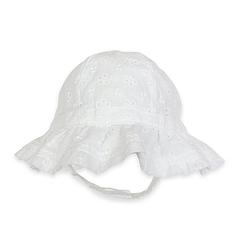 Agabang Baby Girl's Eyelet Sun Hat - White - Size: 3M