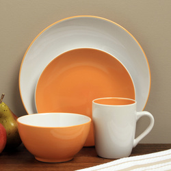 McLeland Sofia 16 Piece Dinnerware Set - Orange