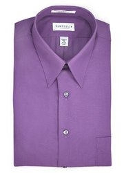 Van Heusen Men's Orchid Lux Sateen Dress Shirt - Lavender - Size: 16""