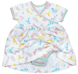 Under The Nile Little Girl's Zen Dress with Bloomer - Multi - Size: 0-3M