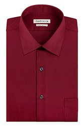 Van Heusen Men's Lux Sateen Dress Shirt - Red - Size: 15-1/2 x 34/35