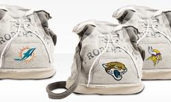 Little Earth NFL Denver Broncos Hoodie Duffel Bag - Grey